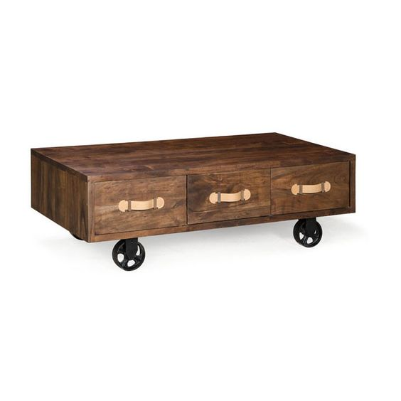 Industrial Walnut Coffee Table And The Rich On Pinterest