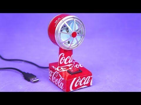 Faça um Incrível Mini Ventilador USB com Motor DC e latinhas de ...