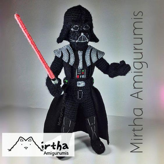 Amigurumi Hakeln Star Wars : Darth Vader Amigurumi Star Wars by MirthaAmigurumis ...