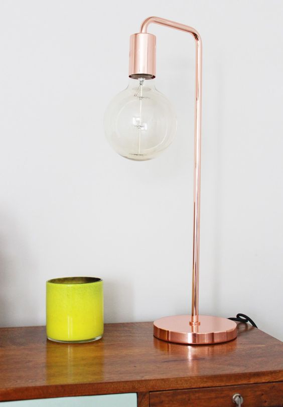 Copper Bedside Wall Lamps : My Bedroom Snippets Copper, Bedside lamp and On the high street
