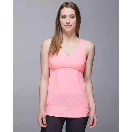 Lululemon Hustle & Bustle Tank Perfect condition. Light Pink. Will post real photos tomorrow morning. Willing to drop price for a shipping discount :) lululemon athletica Tops Tank Tops