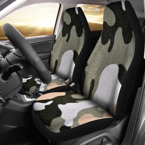 Desert Camouflage Design Seat Covers Muggalicious Car Seatcover Automotive Vehicle Elastic Front Monogram Custom Camo Car Car Seats Fit Car