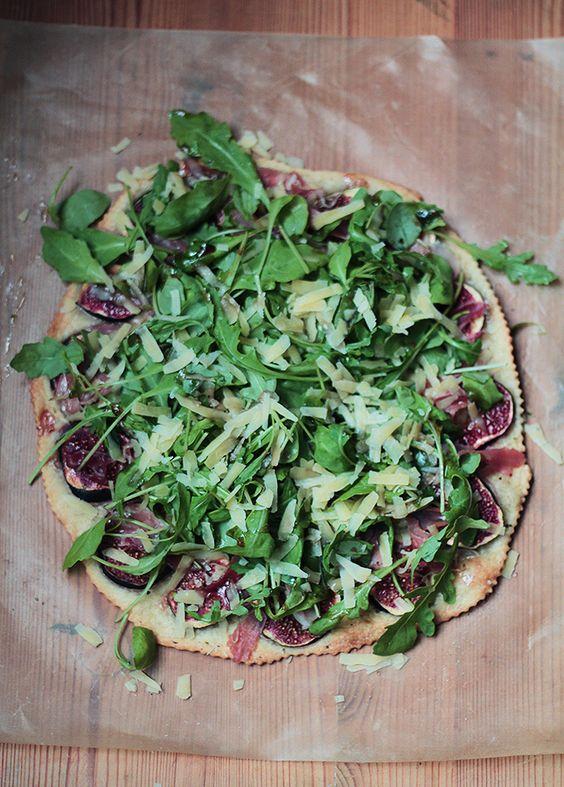 #pizza con rucola and figs #recipe