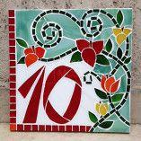 Número em mosaico para residência (40×30 cm)