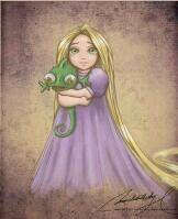 Rapunzel de pequeña