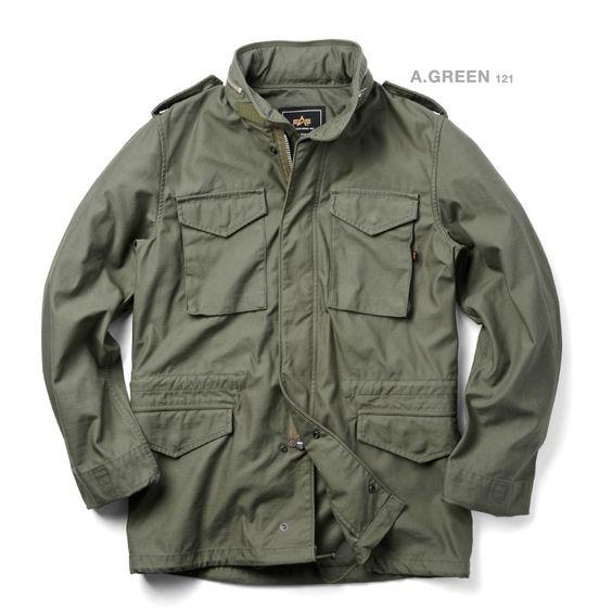 ALPHA アルファ TA1033 M-65 フィールドジャケット N/C SATIN
