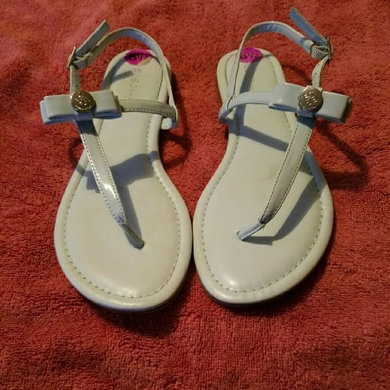 BCBG powder blue sandals These pretty sandals could be yours just in time for summer. Pair them with shorts or a nice dress. Worn once. BCBGeneration Shoes Sandals