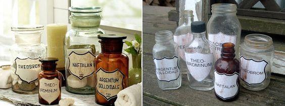 Pottery Barn apothecary jars run from $69-149…. | 35 Money-Saving Home Decor Knock-Offs http://www.thecountrychiccottage.net/2011/06/pottery-barn-imitation-apothecary-jars.html