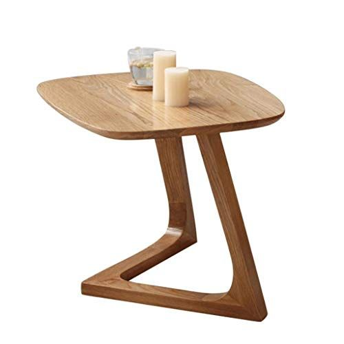 Solid Wood Side Table Square Small Coffee Bedside Multi Function Rack Living Room Bedroom Sofa Terrace Modern Serie Solid Wood Table Cafe Furniture Cafe Tables