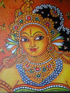 pics for kerala mural painting on fabric