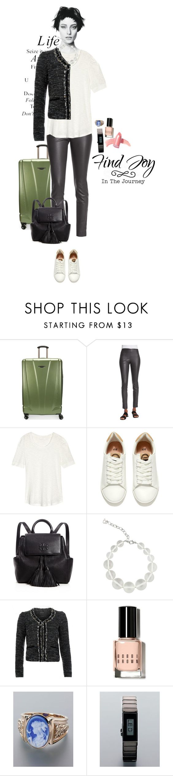 """my real outfit today"" by akchen ❤ liked on Polyvore featuring Ricardo, Garcia, The Row, H&M, Tory Burch, DIANA BROUSSARD, Maison Scotch, Bobbi Brown Cosmetics and Elizabeth Arden"