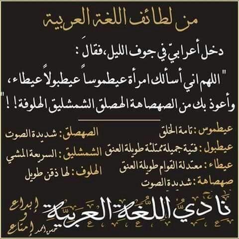 لغتنا الجميلة Beautiful Arabic Words Arabic Quotes Arabic Language