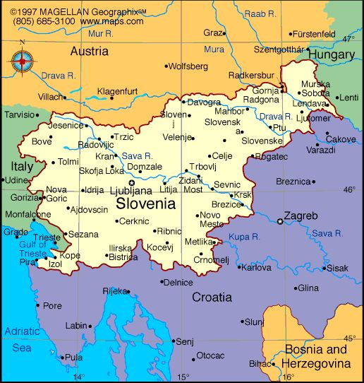 map slovenia and surrounding countries