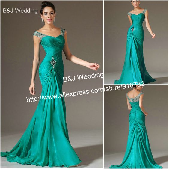 Sexy elegant Mermaid Chiffon Bridal Prom Dress Formal Wedding ...