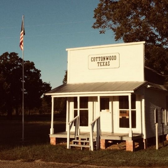 Bank And Post Office Cottonwood Texas Cottonwood Springs Was