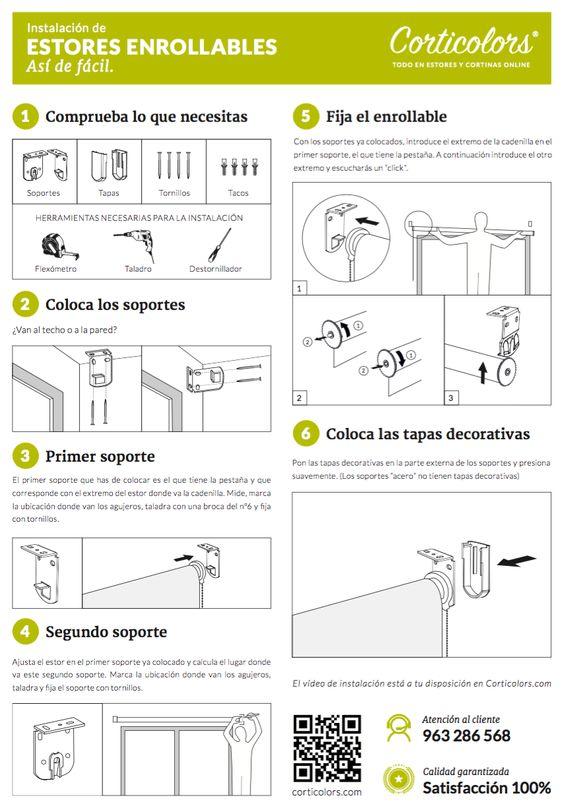 Guía de montaje de estores enrollables. Sigue paso a paso esta guía y podrás instalar correctamente estos #estores. http://bit.ly/29ImaTX  #decoración #estores #screen