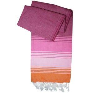 Hamamtuch / Pestemal / Turkish Towel Kim - pink mit orange