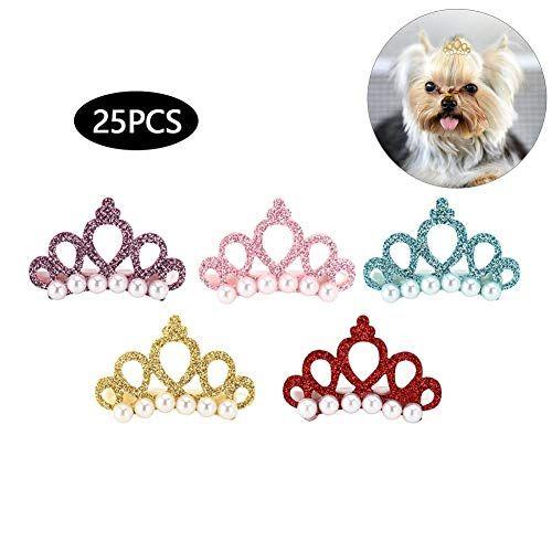 7 Piezas Pinzas para El Pelo de Perro Encantadores Estilos Mixtos Mascotas Arco Flores Horquillas para El Cabello para Gatos Perros Peque/ños Accesorios para El Cuidado del Cabello