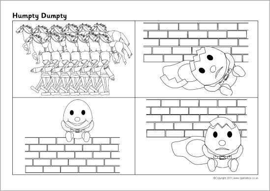 Humpty Dumpty sequencing sheet (SB4310) - SparkleBox   School ...