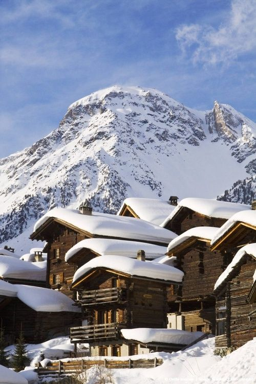 Snow Roofs, Grimentz, Switzerland