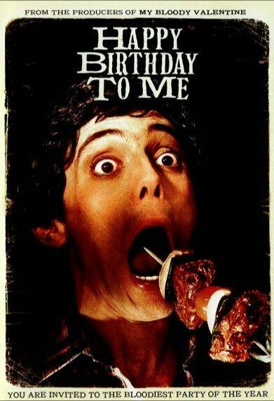 Happy Birthday To Me horror movie poster