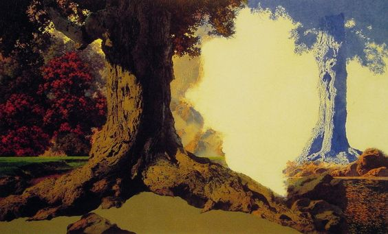Dreaming Octobre, huile de Maxfield Parrish (1870-1966, United States)