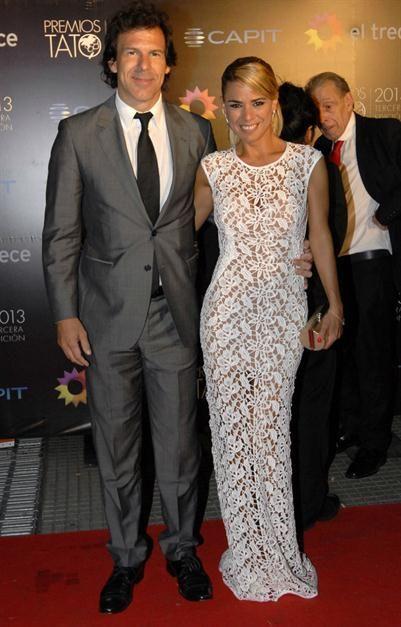 Marina Calabró junto con su novio Martín Albrech - Premios TATO 2013