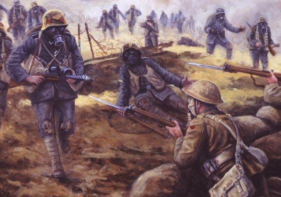 Stosstruppen world war i paintings pinterest