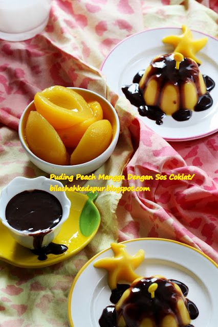 Puding Peach Mangga Dengan Sos Lat Bila Chah Ke Dapur Fruit Veggies Buah Sayur Pinterest And