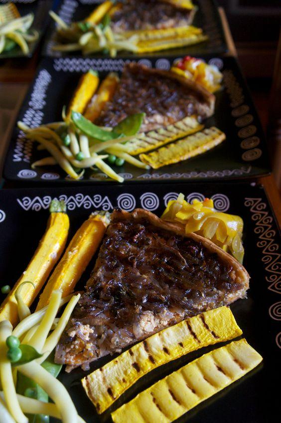#caramalized #onion and #tofu #tart by NikkiEmmerton  www.underthelimetree.com