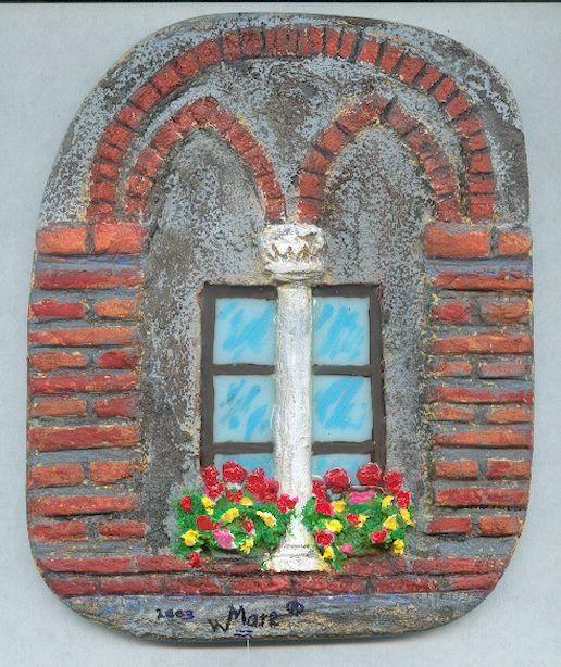 Finestra bifora in Toscana