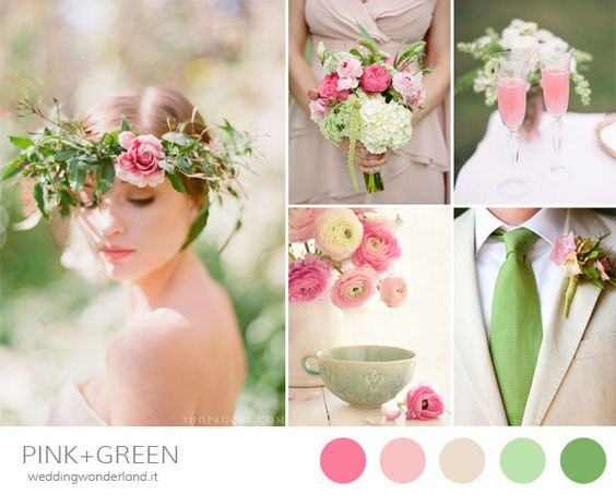 Pink and green spring wedding inspiration