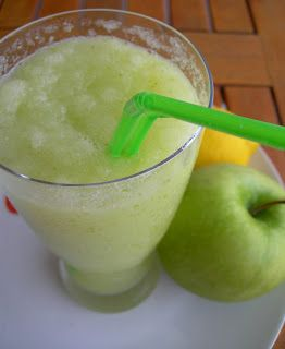 Granizado de manzana verde y limón. Paso a paso