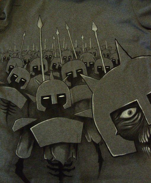 maxrock art: 'Legion' - Hand Painted t-shirt for Marlon