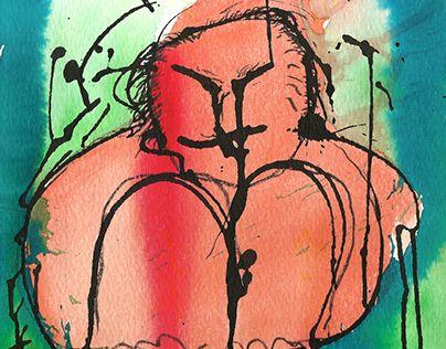 """Check out new work on my @Behance portfolio: """"Hombre ensimismado sentado pensando..."""" http://be.net/gallery/36226155/Hombre-ensimismado-sentado-pensando"""
