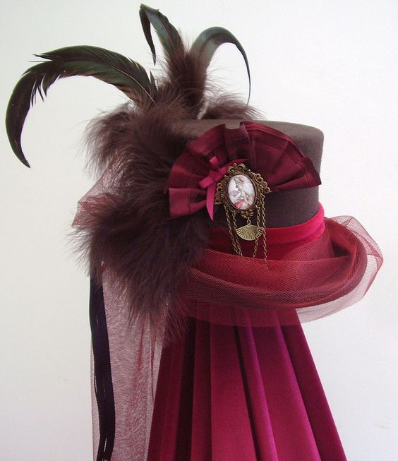 Steampunk riding hat  Marie Antoinette'. £95,00, via Etsy.
