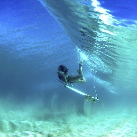 underwater surfer girl desktop - photo #23