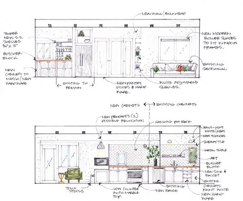 Interior Design Sketches Kitchen precious-view-0f-the-architecture-drawing-plan-of-the-armoni