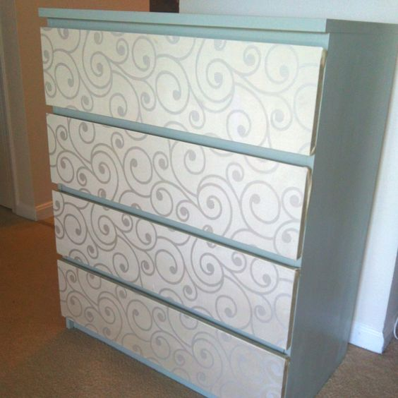 Ikea Malm Dresser Painted Drawers Are Covered With