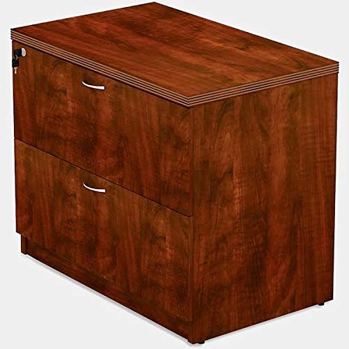 Wood Filing Cabinet With Locking System Lateral Filing Cabinet With 2 Drawers Brown Filing Cabinet Office Furniture File Cabinets Cabinet