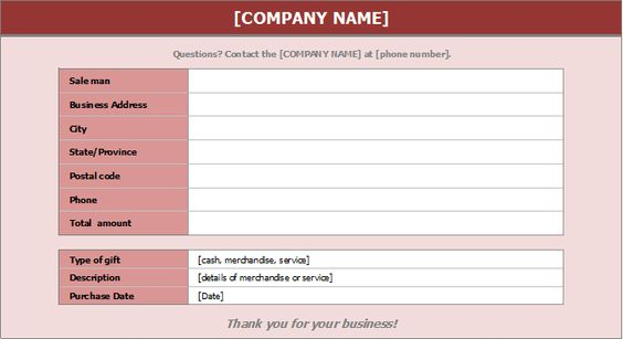 Gift Receipt Template DOWNLOAD At Http\/\/wwwreceipts Templates   Name And  Name Address And Phone Number Template