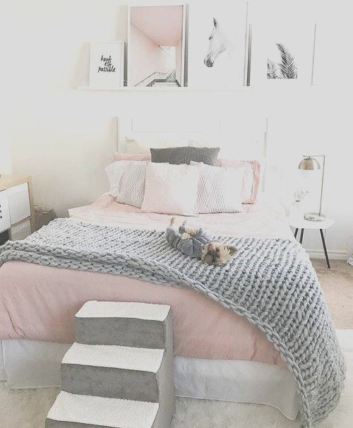 46 Pink Grey Awesome Bedroom Decorating Ideas Pink Bedroom Decor Pink And Grey Room Grey Room