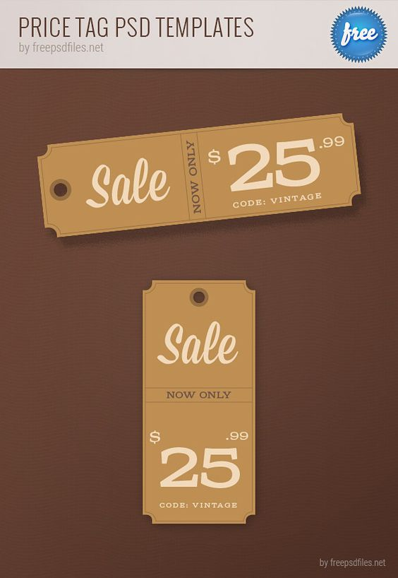 Price tag templates printable set in psd format vector for Template for price tags