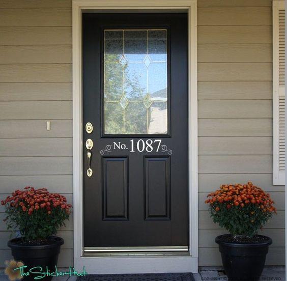 Custom House no. Devant porte adresse entrée Way par thestickerhut