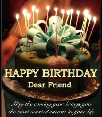 Happy Birthday Cakes With Candles For Best Friend Plus Best Birthday Cake Images With Quo Happy Birthday Dear Friend Happy Birthday Friend Happy Birthday Cakes
