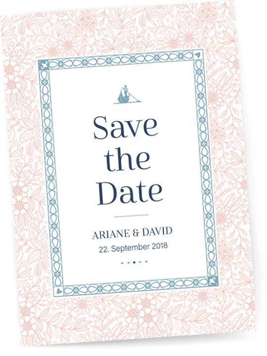 Danksagungskarte zur Hochzeit von Hochzeitskartendesign Mit