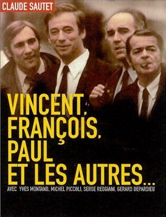 """"""" Vincent, François, Paul et les autres """" ( avec Gérard Depardieu, Yves Montand, Michel Piccoli, Serge Reggiani ..) Un film de Claude Sautet"""