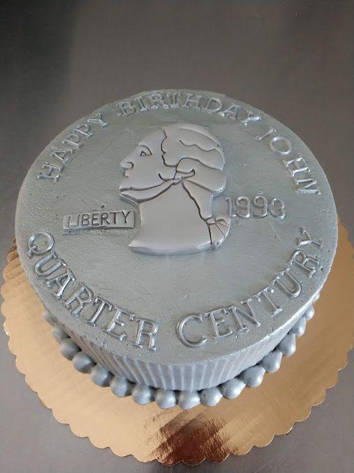 Wondrous Quarter Century 25Th Birthday Cake Vintagebakery Com 803 386 8806 Birthday Cards Printable Benkemecafe Filternl