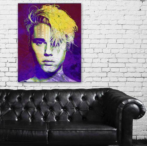 Justin Bieber Wall Art | Lisa Jaye Art Designs