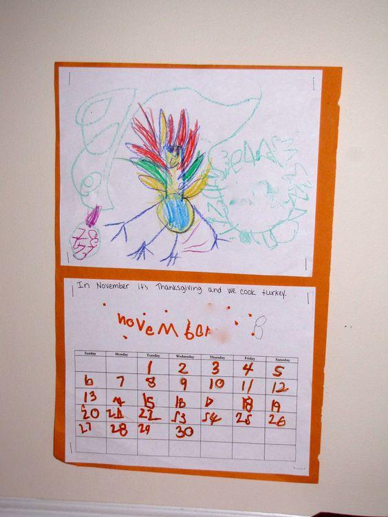 Kindergarten Calendar Craft : Kindergarten calendar activities and